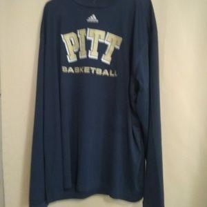 Adidas 3XL basketball Pitt long-sleeved shirt athl